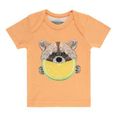 Milk on the Rocks T-shirt Raccoon Lemon Teddy-listing