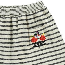 Milk on the Rocks Sea Embroidered Stripe Skirt-listing