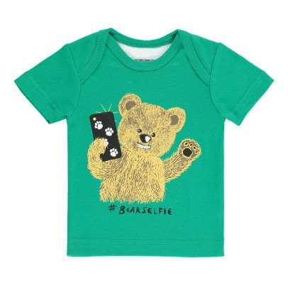 Milk on the Rocks Camiseta Bear Selfie Teddy -listing