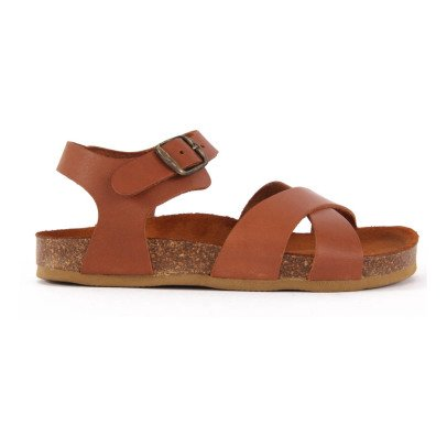 Bonton Leather Cross Sandals-listing