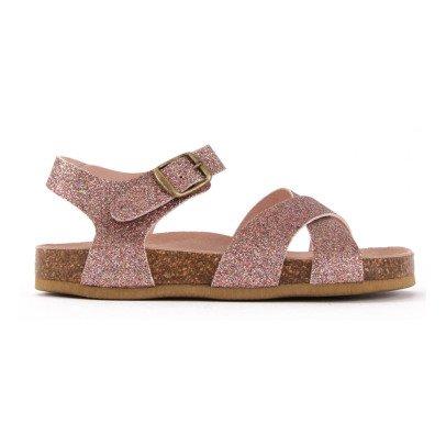 Bonton Sandales Croisées Paillettes-listing