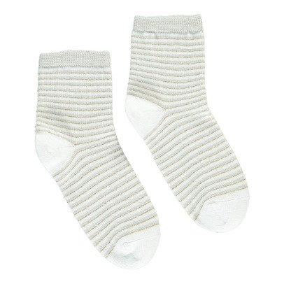 Bonton Lurex Striped Socks-listing