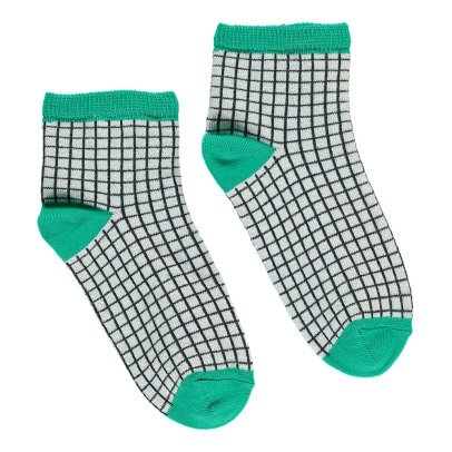Bonton Checked Socks-listing