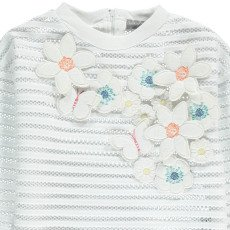 Milk on the Rocks Santiago Embroidered Floral Mesh Sweatshirt-listing
