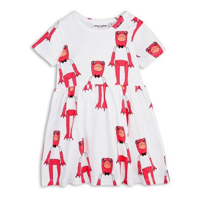 Mini Rodini Organic Cotton Frog Skater Dress-listing