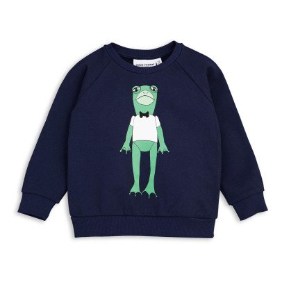 Mini Rodini Organic Cotton Frog Sweatshirt-listing