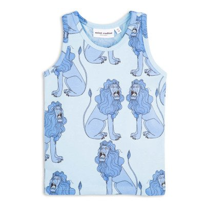 Mini Rodini Organic Cotton Lion Vest Top-listing