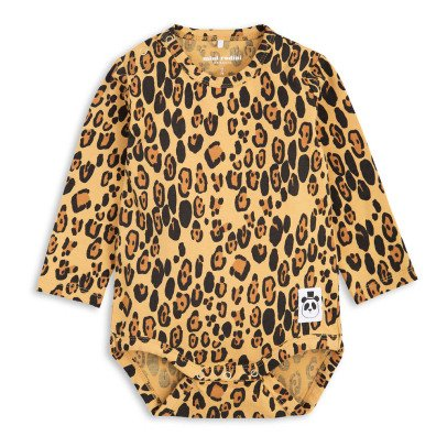Mini Rodini Organic Cotton Leopard Babygrow-product