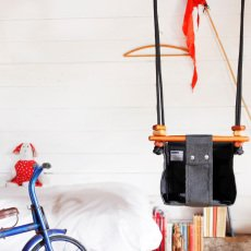 Solvej Swings Altalena per bébé in tessuto e legno-listing