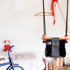 Solvej Swings Balançoire pour bébé en tissu et bois-listing
