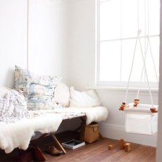 Solvej Swings Baby-Schaukel aus Stoff und Holz -listing