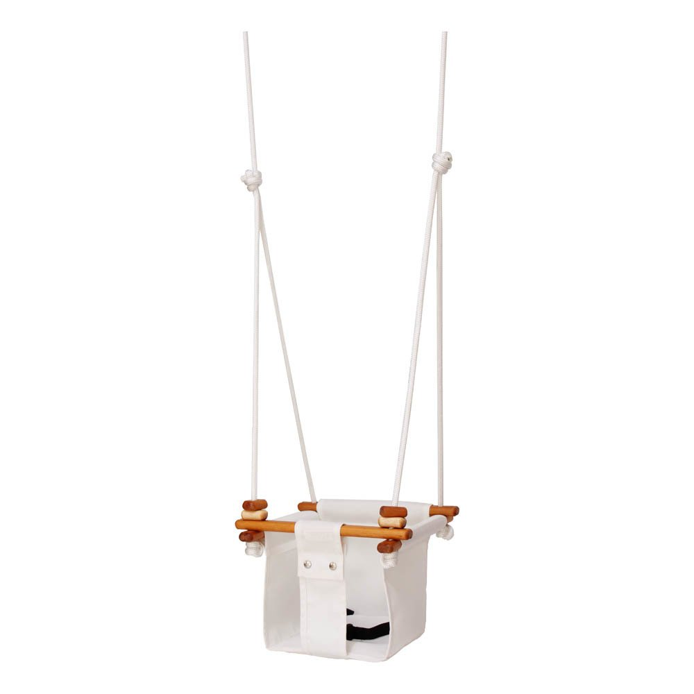Wood and Fabric Baby Swing-product