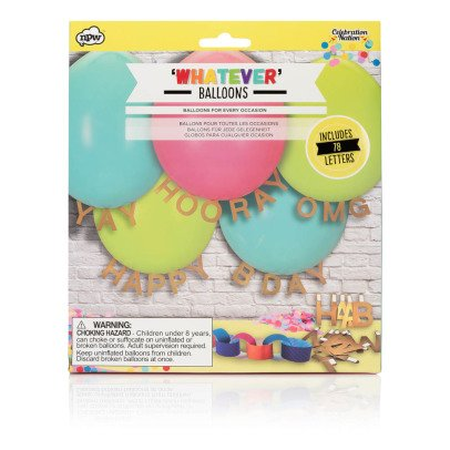 Smallable Toys Ballons personnalisables avec 78 lettres-listing