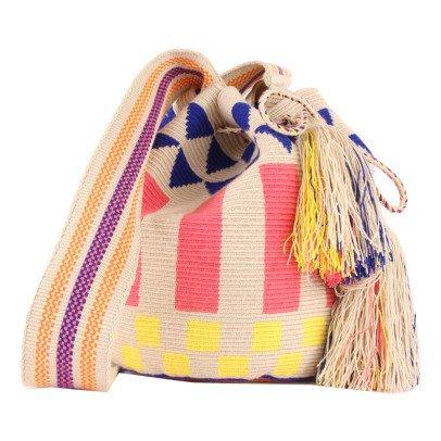 Guanabana Wayuu Geometric Print Bucket Bag-listing