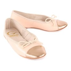 Gallucci Contrasting Leather Ballerinas-listing