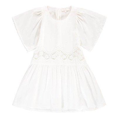 Chloé Vestido Percal Volantes Hombros-listing