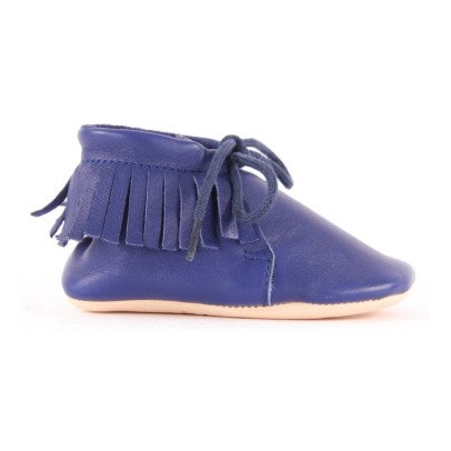 Easy Peasy Chaussons Lacets Cuir Meximoo Stylo-listing