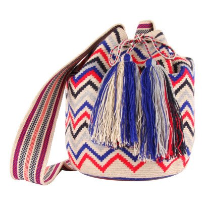 Guanabana Wayuu Zigzags Bucket Bag-listing