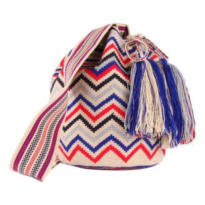 Guanabana Sac Seau Zigzags Tricolores Wayuu-listing