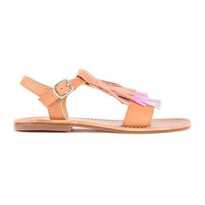 Gallucci Flat Fringed Sandals-listing