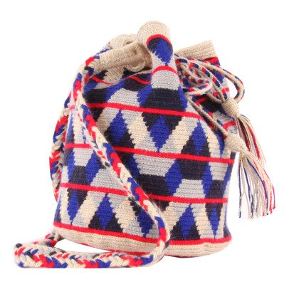 Guanabana Bolso Zigzags Tricolores Wayuu-listing