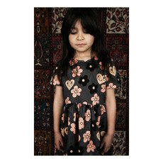 Mini Rodini Organic Cotton Flower Skater Skirt-listing