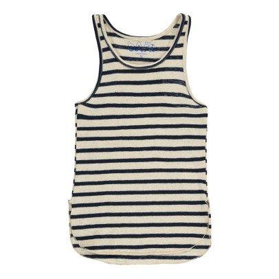 Atelier Barn Patti Striped Linen and Cotton Vest Top-listing