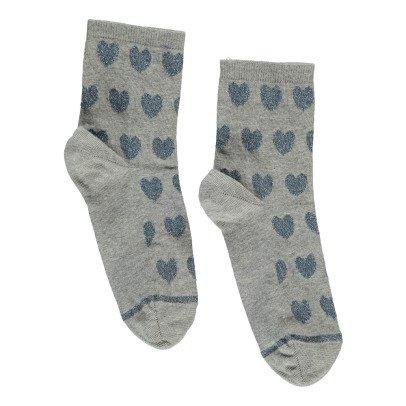 Soeur Babylove Lurex Heart Socks-listing