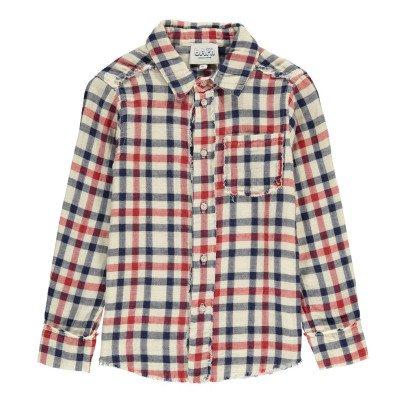 Atelier Barn Ake Japanese Checked Cotton Shirt-listing