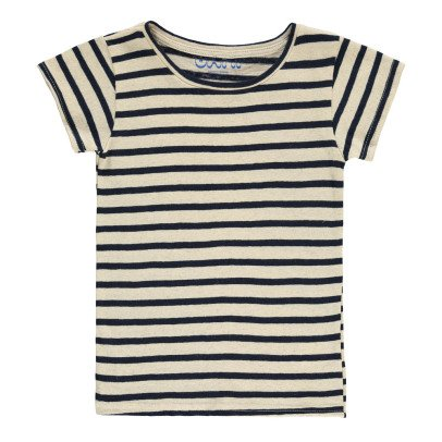 Atelier Barn Gestreiftes T-Shirt aus Baumwolle und Leinen Stig -listing