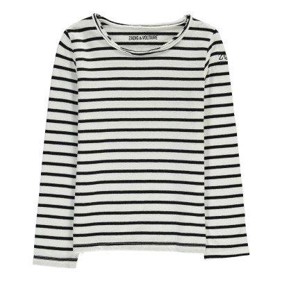 Zadig & Voltaire Natalie Boat Neck Marinière T-Shirt-listing