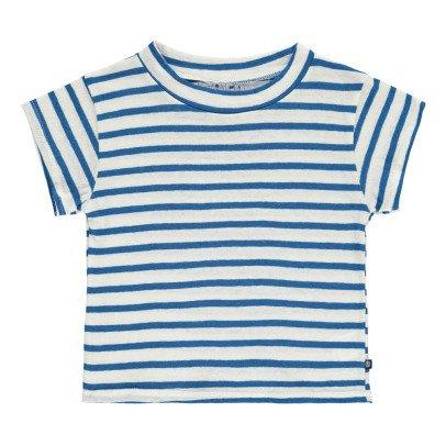 Atelier Barn Gestreiftes T-Shirt aus Baumwolle und Leinen Skip -listing