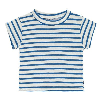 Atelier Barn Skip Striped Linen and Cotton T-Shirt-listing