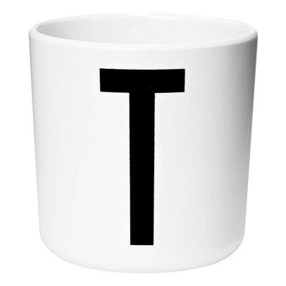 Design Letters Melamine Mug -T -listing