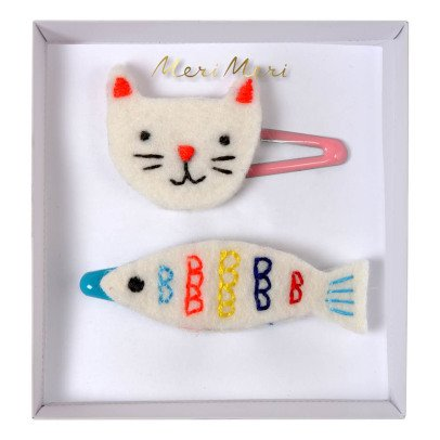 Meri Meri Cat and Fish Hair Clips-listing