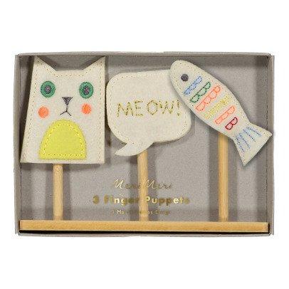 Meri Meri Marionetas para dedos gato-listing
