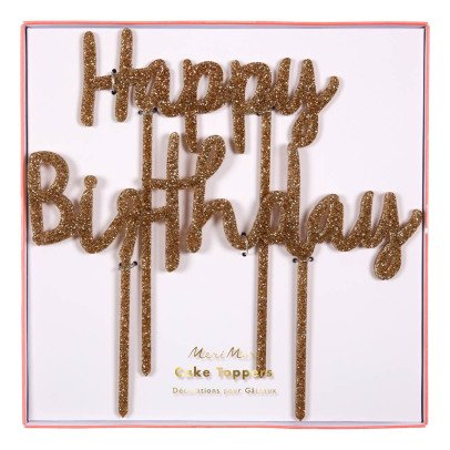 Meri Meri Toppers Happy Birthday pour gâteau-listing