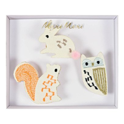 Meri Meri Forest Animal Brooches -Set of 3-listing