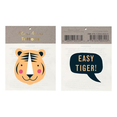 Meri Meri Tiger Temporary Tattoos - Set of 2-product