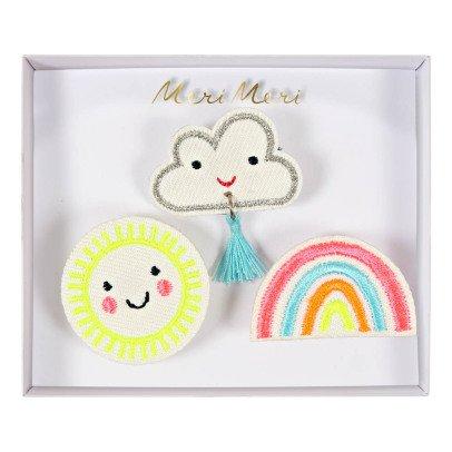Meri Meri Broches nuage, soleil, arc-en-ciel - Set de 3-listing