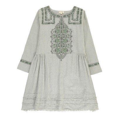 Soeur Kariertes Kleid mit Franzen Vasa -listing