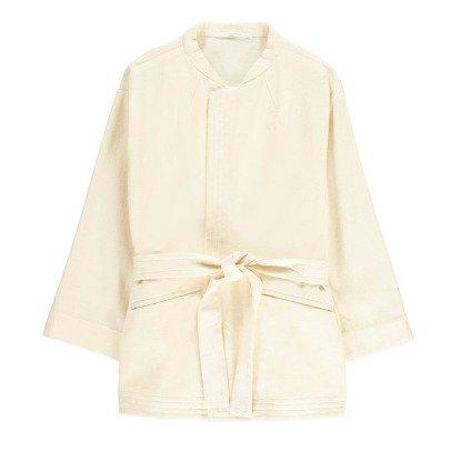 Pomandère Jacke Kimono aus Baumwolle und Leinen -listing
