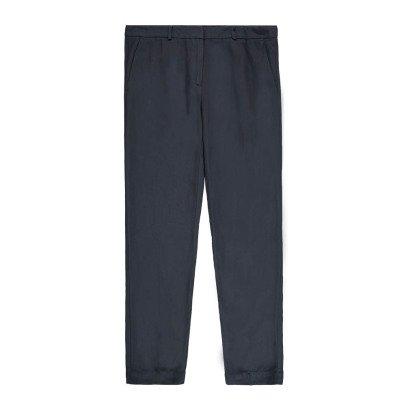 Pomandère Pantalon à Pinces Viscose et Lin-listing