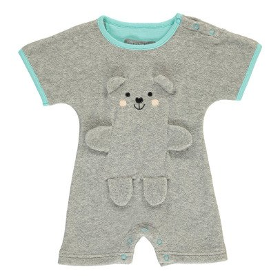 Milk on the Rocks Boston Invisible Bear Towelling Playsuit-listing
