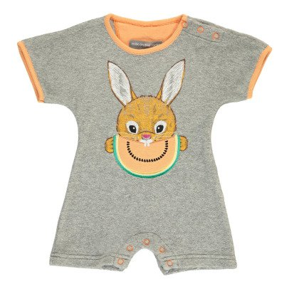 Milk on the Rocks Boston Watermelon Bunny Towelling Playsuit-listing