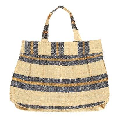 Soeur Banana Striped Raffia Bag-listing
