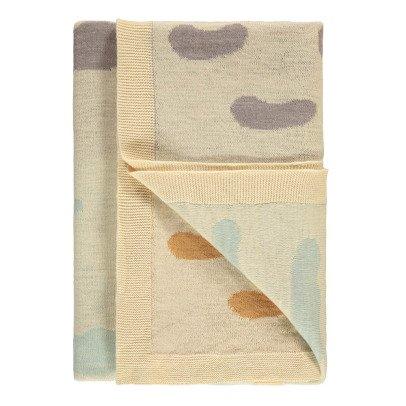 Whole Manta infantil tricot jacquard Weca nubes  90x180 cm -listing