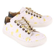 Emile et Ida Martin Lurex Lace-Up Polka Dot Trainers-listing