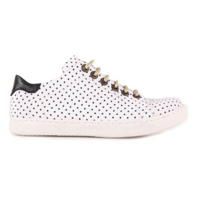 Emile et Ida Martin Lurex Lace-Up Polka Dot Trainers-product