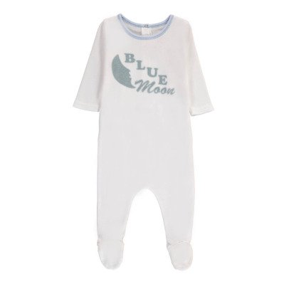 "Bonton ""Blue Moon"" Pyjamas with Feet-listing"